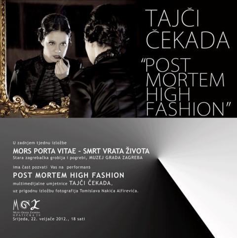 Post Mortem High Fashion u Muzeju grada Zagreba