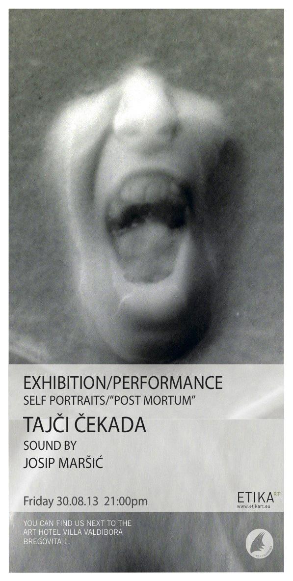 "Otvorenje izložbe i performans ""Autoportreti"" / ""Post mortem high fashion"""